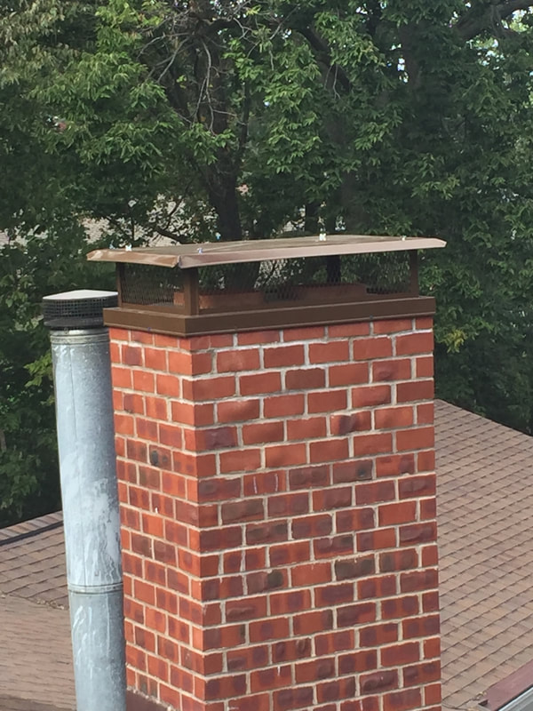 Power Coated Brown Chimney Hood Peoria, IL